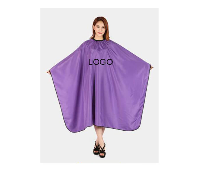 2020 Custom high quality Salon Cape stripes Polyester Haircut Apron Hair Cutting Cape