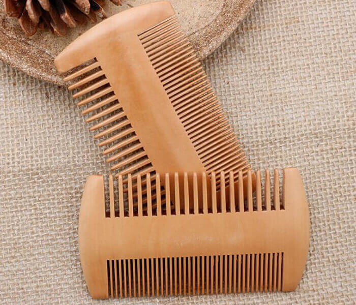 wholesale wide tooth comb private label mens grooming wooden beard comb wooden hair comb