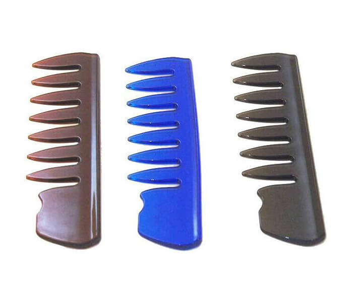 Custom salon Plastic Mens Wide Tooth Comb Detangling Hair Comb With Logo