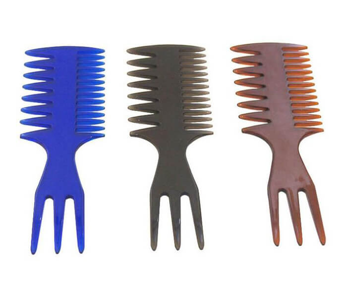 wholesale Gentleman Professional Styling Salon Hair Pick Comb Smooth Wide Tooth Fork Comb For Men