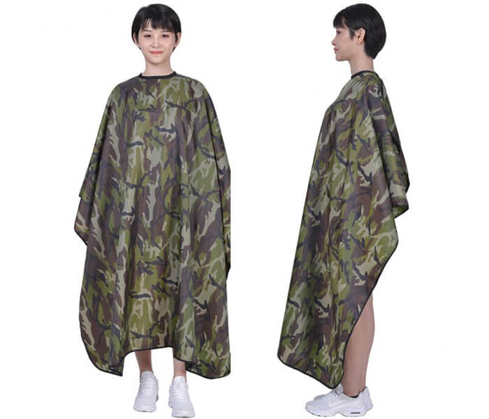 Polyester waterproof Camouflage Hair Salon cutting cape barber cape hairdressers cape