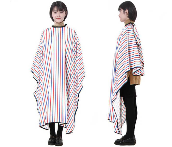 Wholesale Professional Polyester Color stripes Hairdressing Cape Hair Cutting Cape Barber Cape