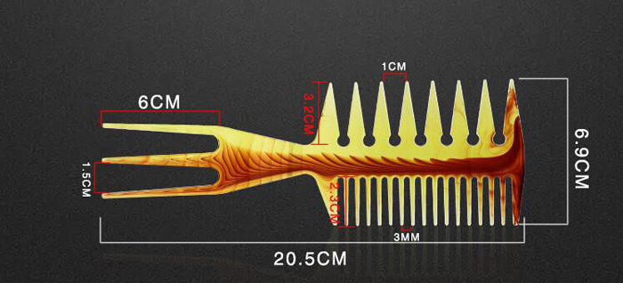 Oil Head Styling comb 1-5