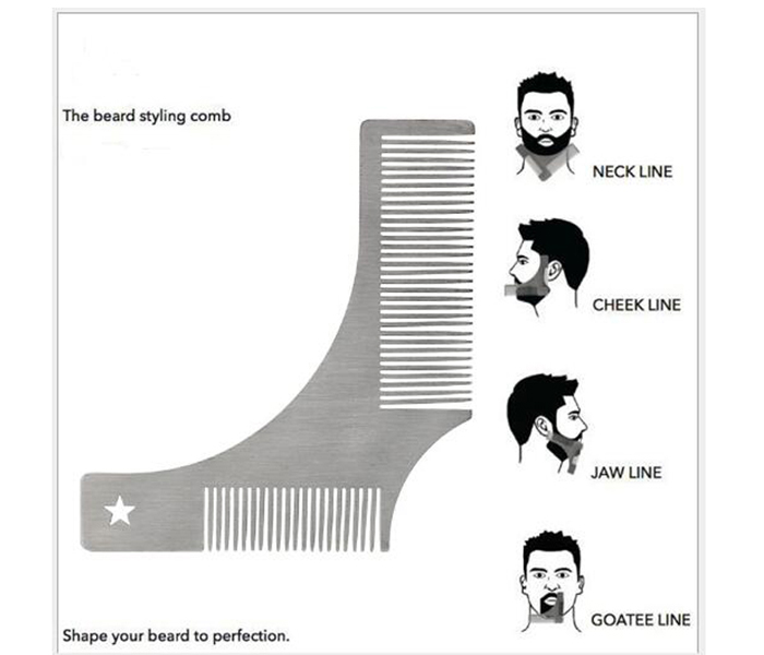 Metal stainless steel Beard styling tool Beard combs 02