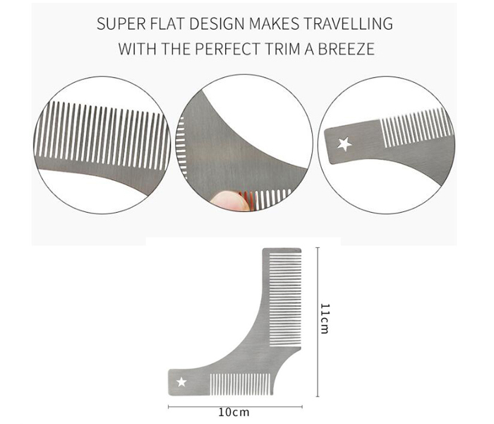 Metal stainless steel Beard styling tool Beard combs 03