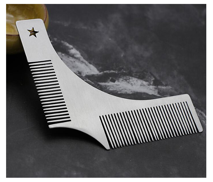 Metal stainless steel Beard styling tool Beard combs 04