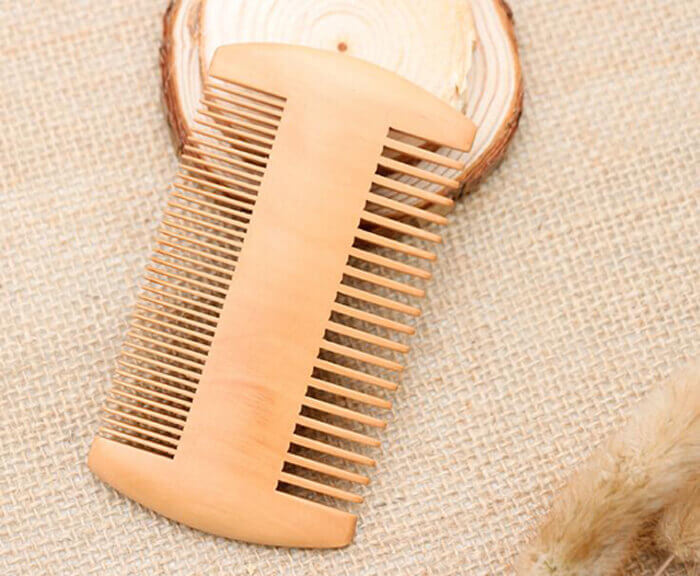 mens grooming wooden beard comb wooden hair comb 02