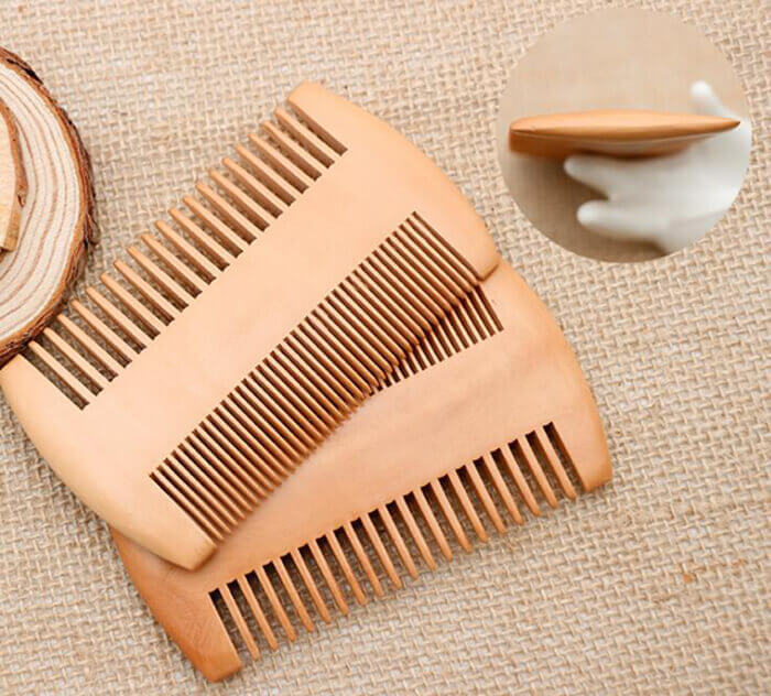 mens grooming wooden beard comb wooden hair comb 05