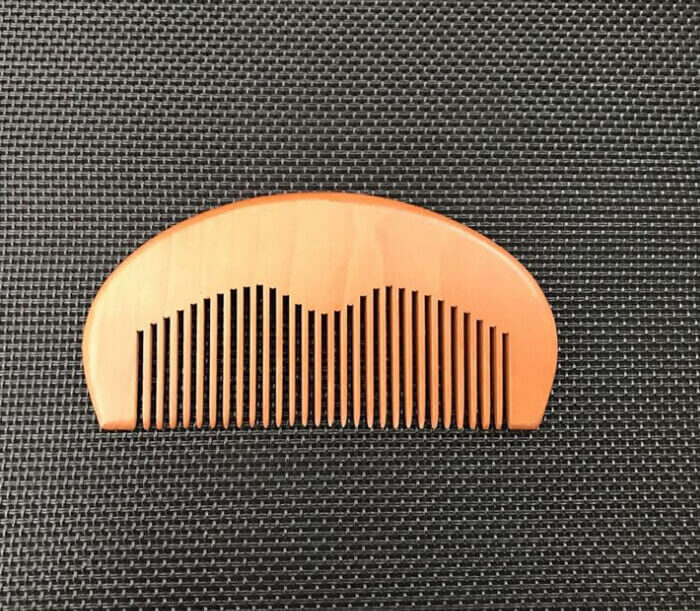 custom Good Quality Wooden Beard Comb Wood Comb For Grooming with logo 03