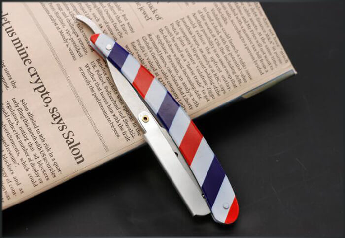 Red White and Blue Striped barber Razor shaving razor for barber salon beauty 04