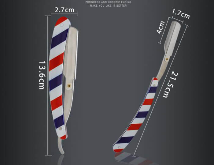 Red White and Blue Striped barber Razor shaving razor for barber salon beauty 06
