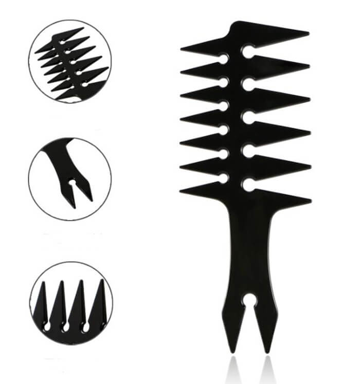 Custom wide tooth comb hair styling comb 02
